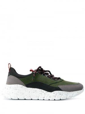 Кроссовки на шнуровке Bally. Цвет: зеленый