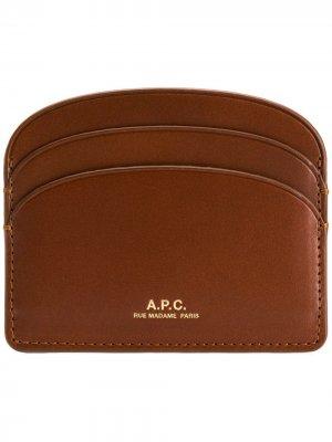 Футляр для карт с логотипом A.P.C.. Цвет: коричневый