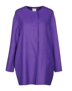 Пальто MANUELA CONTI. Цвет: фиолетовый