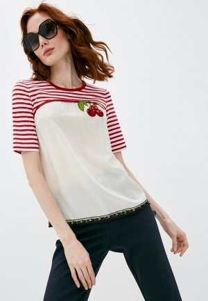 Блуза Dolce&Gabbana. Цвет: бежевый