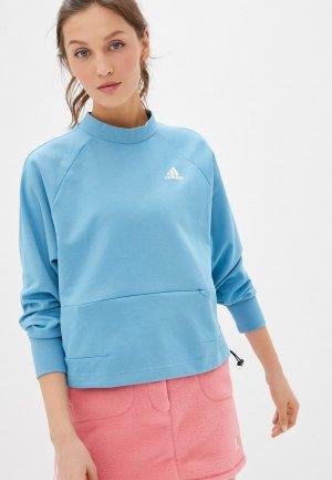 Юбка adidas Originals FLEECE SKIRT. Цвет: розовый