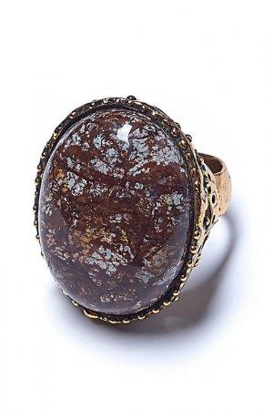 Кольцо ALCOZER. Цвет: золотой, коричневый