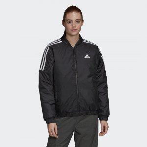 Утепленная куртка-бомбер Essentials Sportswear adidas. Цвет: черный