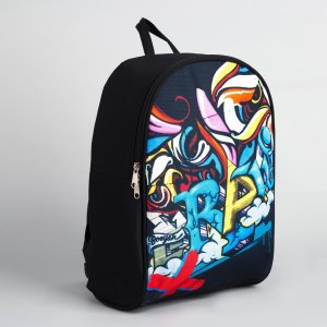 Рюкзак молодёжный 27х14х38, граффити NAZAMOK
