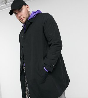 Черный макинтош Big & Tall Burton Menswear
