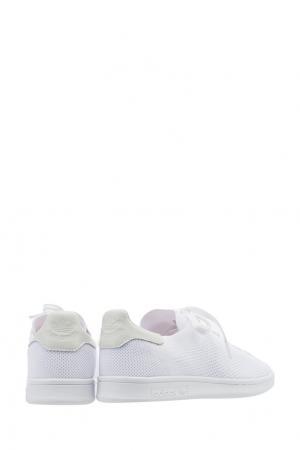 Белые кеды Stan Smith PK Adidas. Цвет: белый