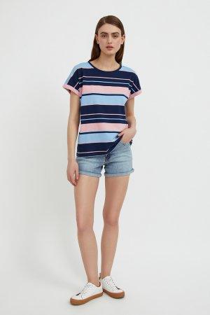Шорты джинсовые женские Finn-Flare. Цвет: голубой