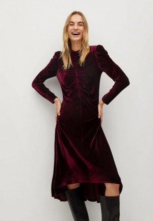 Платье Mango - NINA-A. Цвет: бордовый