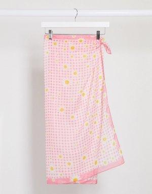 Розовый саронг Monki