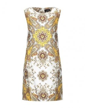 Короткое платье CLIPS. Цвет: белый