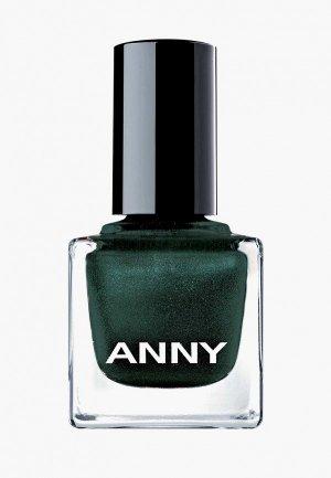 Лак для ногтей Anny тон 369.50 цвет листев пальмы с искрой. Цвет: зеленый