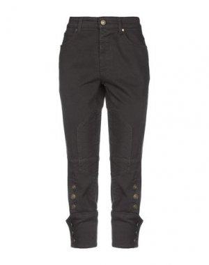 Джинсовые брюки-капри GUCCI. Цвет: темно-коричневый