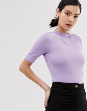 Сиреневая футболка с короткими рукавами COLLUSION. Цвет: фиолетовый