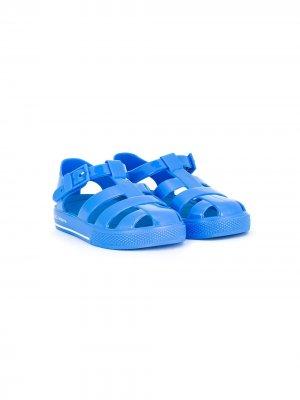 Резиновые туфли Dolce & Gabbana Kids. Цвет: синий