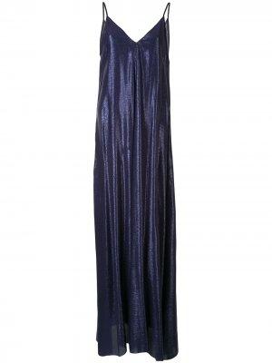Платье макси My Dress с жаккардовым геометричным узором Forte. Цвет: синий