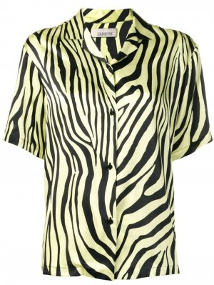 Рубашка с зебровым принтом Laneus. Цвет: желтый