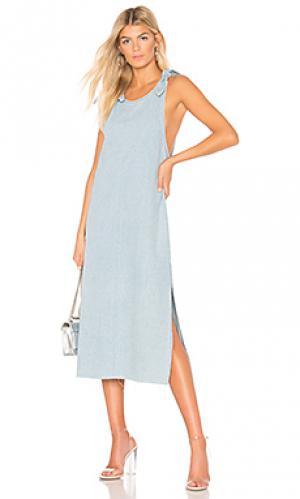 Платье миди langley Dr. Denim. Цвет: синий