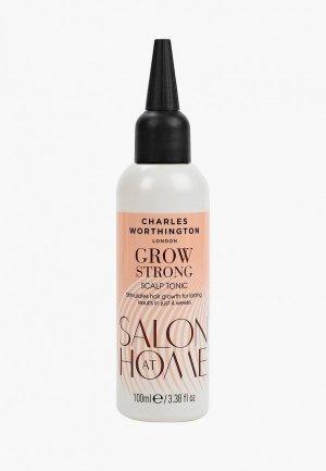 Тоник для волос Charles Worthington Укрепляющий роста волос, 100 мл. Цвет: прозрачный