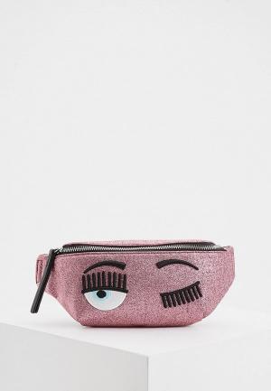 Сумка поясная Chiara Ferragni Collection. Цвет: розовый
