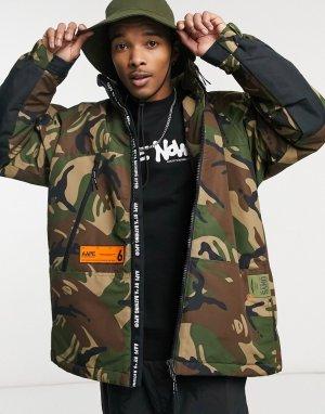 Куртка со складывающимся капюшоном и камуфляжным принтом AAPE By A Bathing Ape-Многоцветный APE®