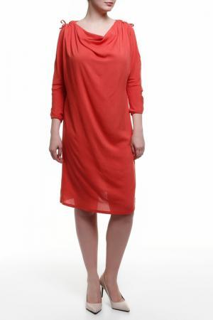 Платье BMBL VIRSAVIYA. Цвет: коралловый