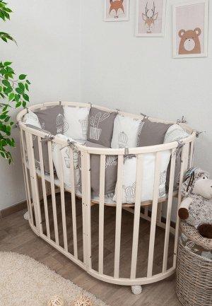 Бортик для детской кровати Сонный Гномик Техас