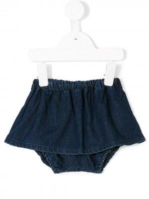 Расклешенная джинсовая юбка-шорты Knot. Цвет: синий