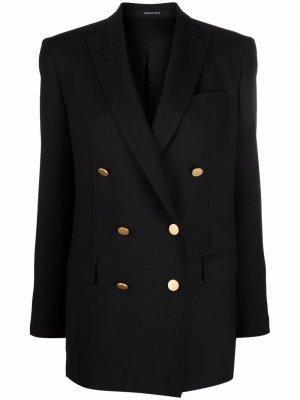 Double-breasted button blazer Tagliatore. Цвет: черный