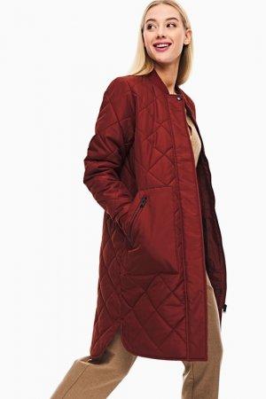 Куртка Selected. Цвет: коричневый