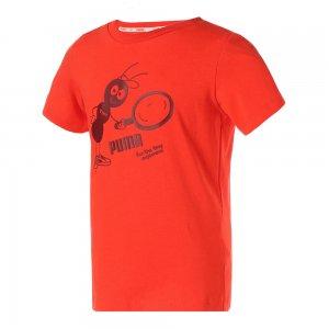 Детская футболка x TINYCOTTONS Kids Tee PUMA. Цвет: красный