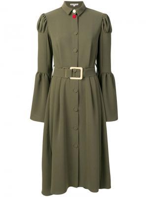 Платье-рубашка Frank Edeline Lee. Цвет: зеленый