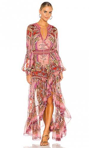 Платье с запахом blouson Camilla. Цвет: розовый