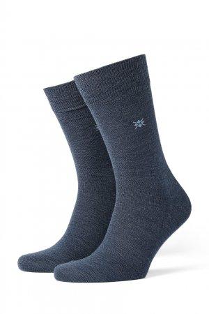 Трикотажные носки Leeds Burlington. Цвет: синий