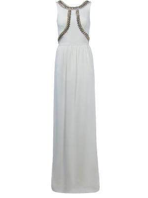 Длинное платье Temperley London. Цвет: белый