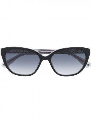Солнцезащитные очки Philip в оправе кошачий глаз Kate Spade. Цвет: черный