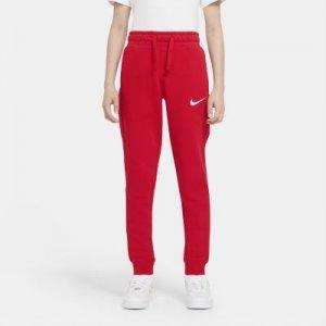 Флисовые брюки для мальчиков школьного возраста Nike Sportswear Swoosh - Красный