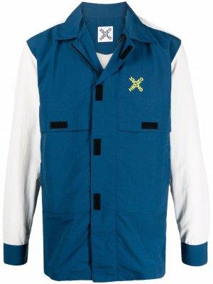 Легкая куртка с логотипом Kenzo. Цвет: синий