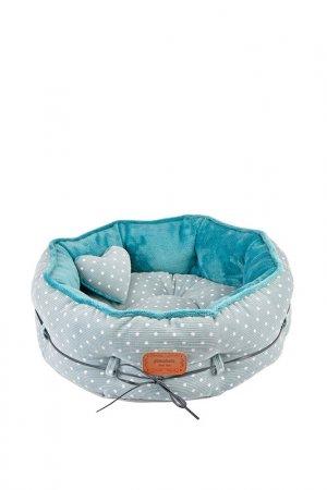 Лежак для животных круглый Pinkaholic. Цвет: голубой