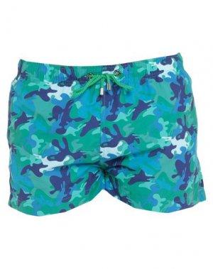 Шорты для плавания FRANKS. Цвет: зеленый