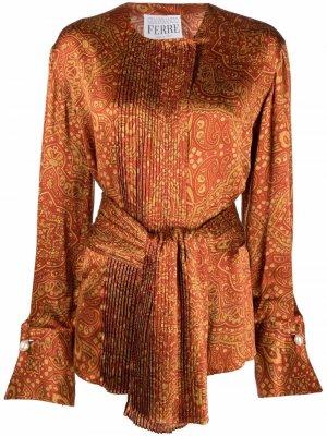Блузка с принтом пейсли Gianfranco Ferré Pre-Owned. Цвет: оранжевый