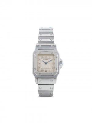 Наручные часы Santos pre-owned 23 мм 1990-го года Cartier. Цвет: нейтральные цвета