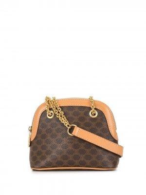Мини-сумка на плечо pre-owned с узором Macadam Céline. Цвет: коричневый