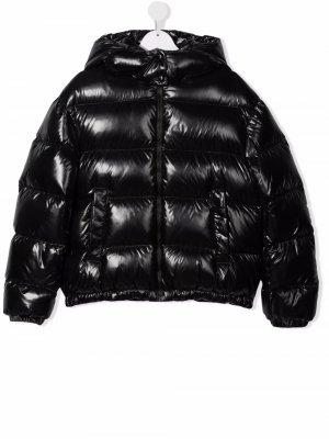 TEEN hooded zip-up padded jacket Moncler Enfant. Цвет: черный