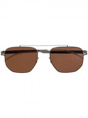 Солнцезащитные очки в квадратной оправе Mykita. Цвет: зеленый