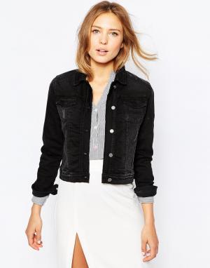 Джинсовая куртка Ichi. Цвет: выбеленный черный