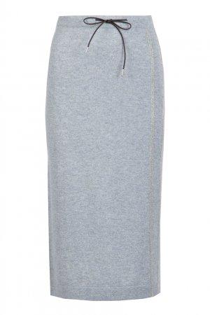 Сет из серого пуловера и юбки миди Fabiana Filippi