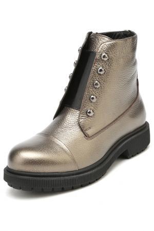 Ботинки DAKKEM. Цвет: золотой
