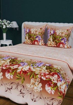 Постельное белье Евро Текстильная лавка. Цвет: разноцветный