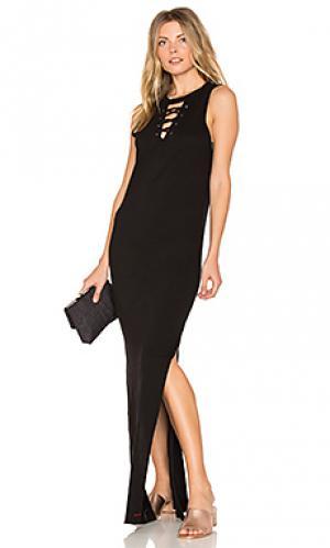 Платье со шнуровкой wayne n:PHILANTHROPY. Цвет: черный