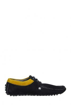Замшевые мокасины CR7. Цвет: черный, желтый